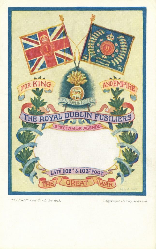 1918 Dublin Fusiliers Postcard