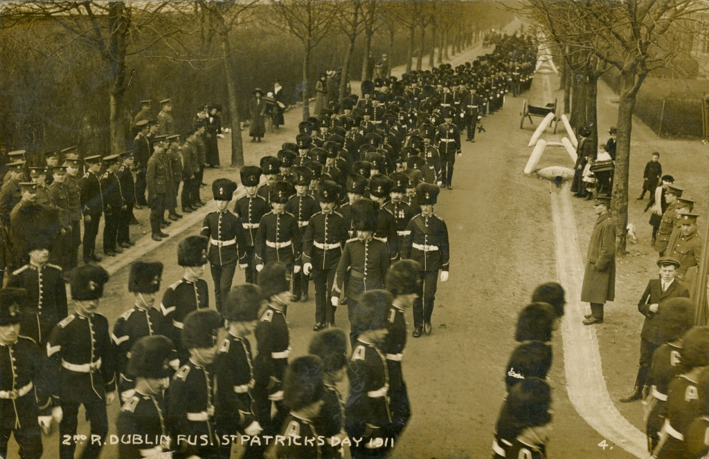 Another section of the 2nd Battalion marching on St. Patrick's Day 1911