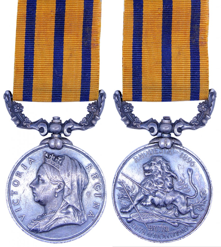Obverse and reverse of the British South Africa Company Medal