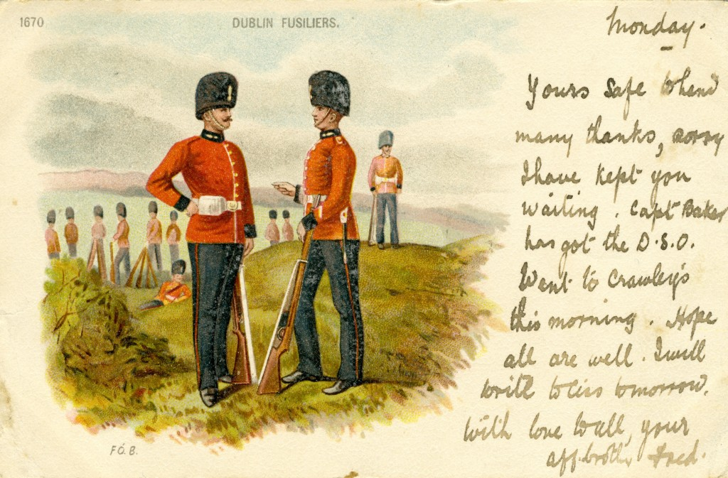 Dublin Fusiliers Officer and Other Ranks