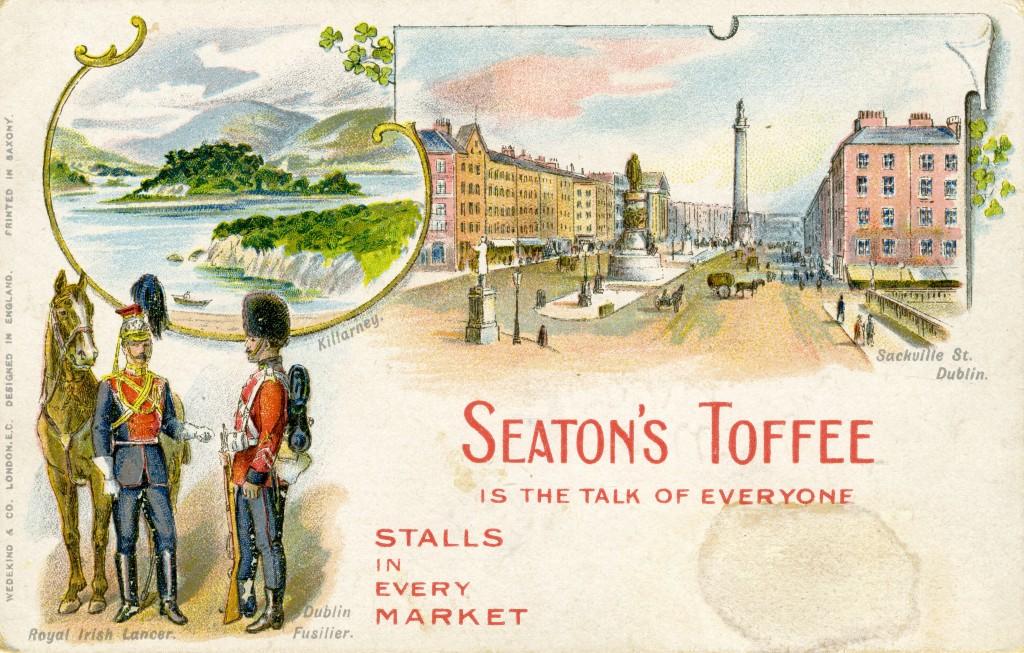 DublinFusilierstoffeeadvertpostcard