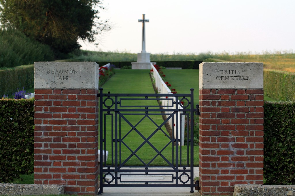 The entrance to Beaumont Hamel Military Cemetery