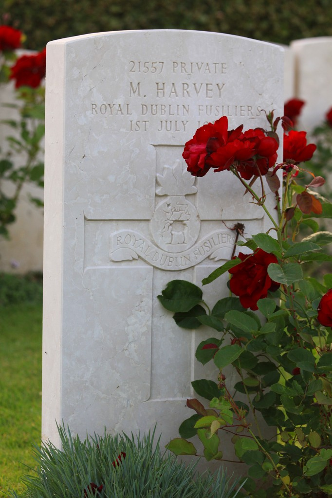 The grave of Private Michael Harvey