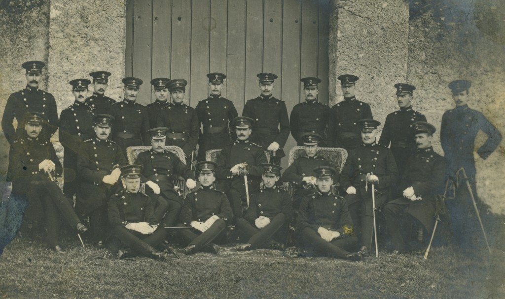 A group of Royal Dublin Fusiliers officers