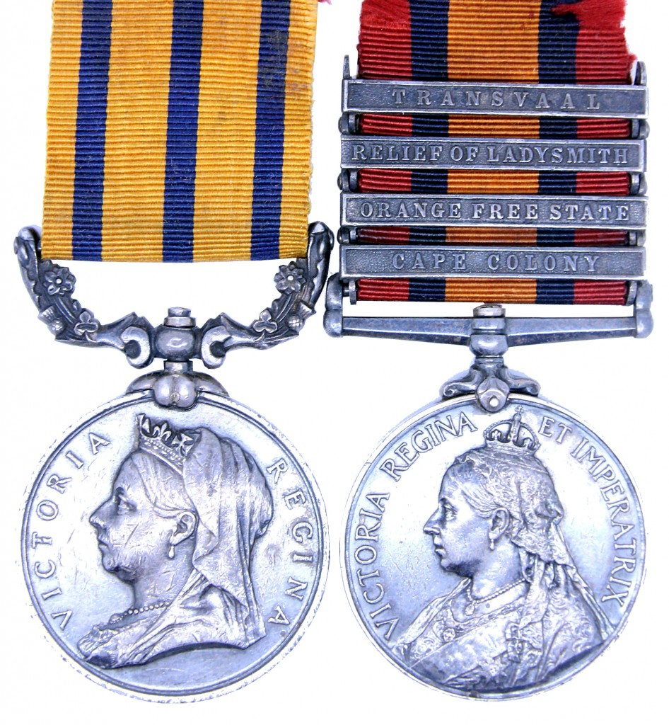 British South Africa Company Medal and Queen's South Africa Medal awarded to Sergeant