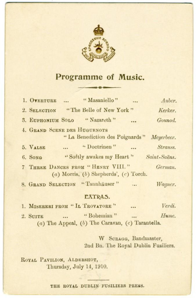 1910 Band Card