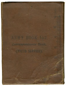 The Field Service Book carried by Private McDowell and used as a diary.