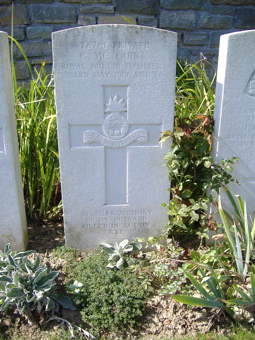 Mcguirk's grave