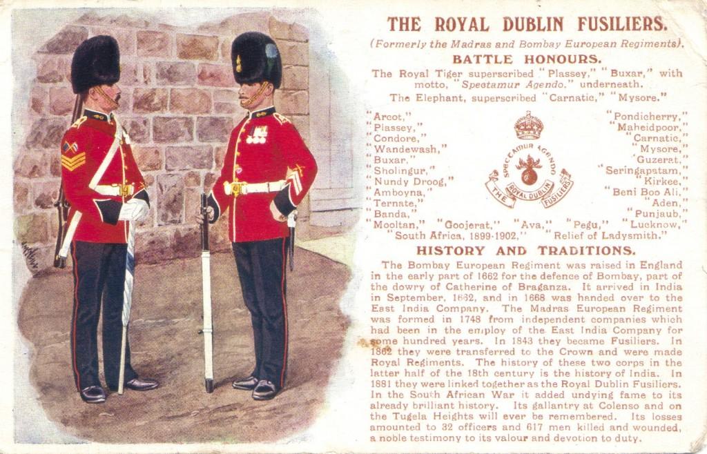 Royal Dublin Fusiliers postcard