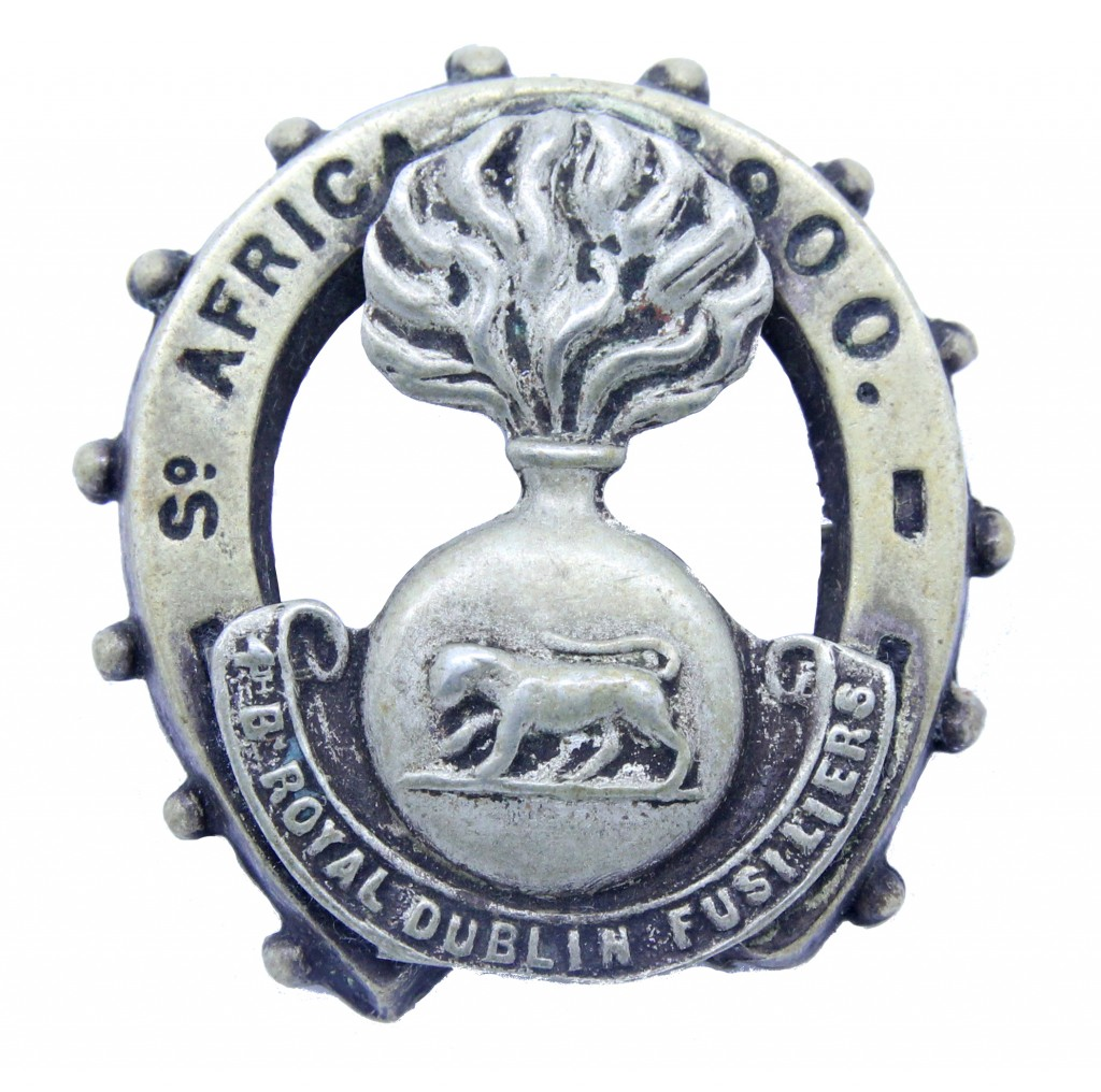 An unusual 4th Battalion Royal Dublin Fusiliers badge produced during the Boer War in 1900