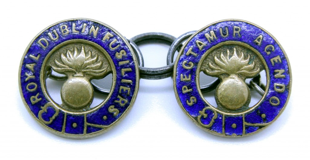 Although not a sweetheart brooch these cuff-links, which were produced and sold by the regiment, make an interesting addition to this page.