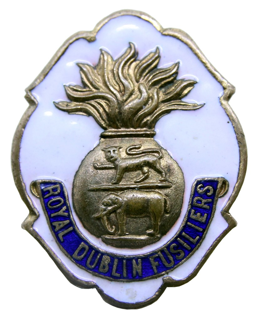 A more widely produced and cheaper example of a First World War period sweetheart badge