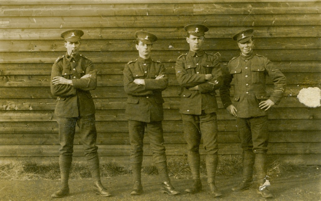 A group of unknown Royal Dublin Fusiliers taken during the First World War